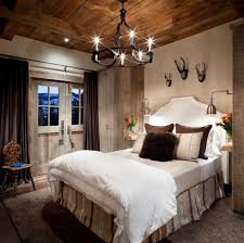 iron chandelier for rustic bedroom decorating ideas plus striped bed skirt also dark window curtain large