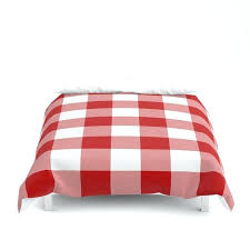 buffalo check duvet set red and white cover by covers