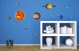 ... Solar System Wall Decals Solar System Vinyl Decal Pack Of All 9 Planets Sun  Moon And ...