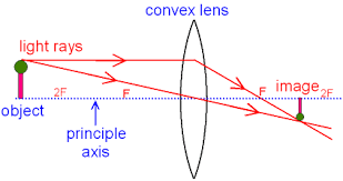 gcse physics   ray diagram for an image made by a convex lens    this image for a convex lens is real  inverted and smaller