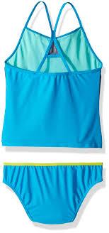 Speedo Two Piece Size Chart Speedo Girls Heather Splice Tankini Two Piece Blue Size 10