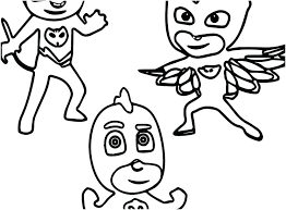 Coloring Pages Pj Masks Coloring Mask Pages Page 9 Colouring