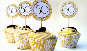 50th Birthday Cupcake Decorating Ideas Simple 50th Anniversary Cakes