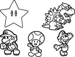 Mario Luigi And Toad Coloring Pages Color Bros