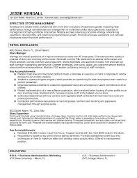 Objective Resume For Retail Management Manager Retail Manager Resume