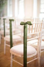 Decorating With Green Chic Summer Wedding In London Chair Photography Green Ribbon