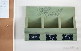 step by step instructions and printable plans along with tutorial this easy diy wall mail organizer
