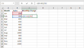 Percentage On Excel Chart Percent Change Formula In Excel Easy Excel Tutorial