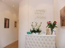 image of white salon reception desk