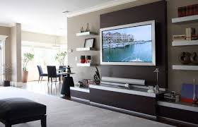 living room tv wall ideas | 19 Wall Mounted TV Designs  Decorating Ideas >  Furniture