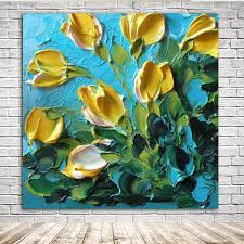 2018 kgtech 3d thick texured acrylic painting yellow tulip flowers wall art handmade florals artworks large 40 inch from kgshop2016 33 15 dhgate com on large 3d flower wall art with 2018 kgtech 3d thick texured acrylic painting yellow tulip flowers