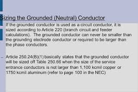 Grounding Electrode Conductor Size Chart Unit 231 Grounding Bonding Overcurrent Protection Ppt