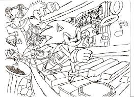 Small Picture Printable Coloring Pages Of Sonic The Hedgehog Coloring Coloring