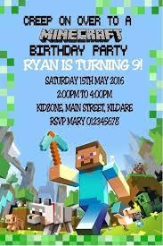 Mine Craft Invitation Template Free Printable Birthday