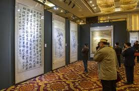 Chinese Art Interior Design Yangzhou Exhibits Traditional Chinese Art Works