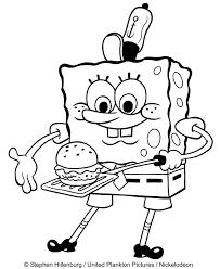 Disegno Di Spongebob Che Riscalda Un Panino Da Colorare