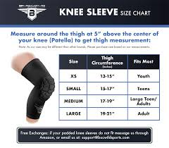 Mcdavid Compression Arm Sleeve Sizing Chart Boys Basketball Knee Pads Youth Adult Sizes Wrestling