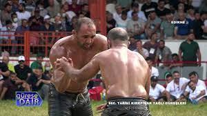 Ali Gürbüz - Orhan Okulu, 660. Tarihi Kırkpınar Yağlı Güreşleri Yarı Final  - YouTube