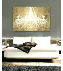 chandelier wall art painting gal on gold canvas regarding awesome metal wa
