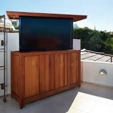 Scenic Roof Deck Even Better With Popup TV Outdoor Tv StandOutdoor