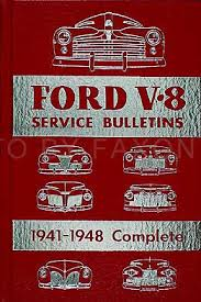 1941 1948 ford lincoln and mercury hardbound service bulletins