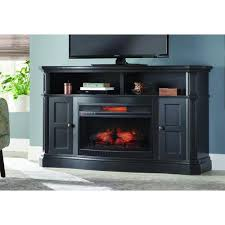 glenrae 58 in a bow front console infrared electric fireplace