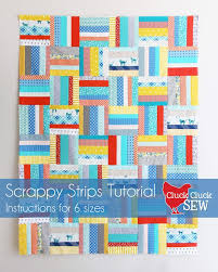Scrappy Strips Quilt Tutorial | Cluck Cluck Sew & I love figuring out and making tricky quilts but sometimes I just want to  not use my brain and sew! This is a super quick and easy quilt, a great  scrap ... Adamdwight.com