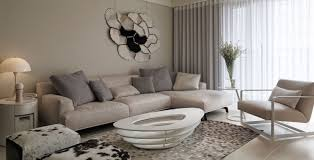 Living Room Decorating Color Schemes Living Room Gray Sofa White Shelves Gray Recliners Brown Chairs