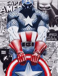 En Couleurs Imprimer Personnages Cbres Comics Captain