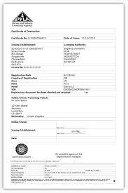 What Does A Dvla Certificate Of Destruction Look Like Cartakeback