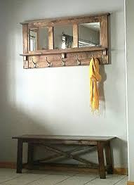 Wall Coat Rack With Storage Coat Racks inspiring coat rack with mirror and shelf Entry Mirror 55