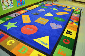 beautifully bright for young kids the teacher literally squealed she was just so excited to get it this rug really stands out in the classroom and just