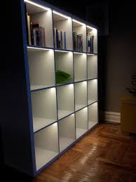 ikea lighting ideas. love the idea of lighting a bookcase i was just planning to do this ikea ideas h