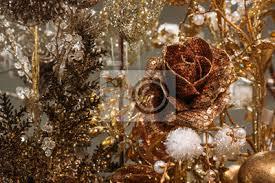 Rose Christbaumschmuck Alle In Einer Farbe Gelb Und Gold