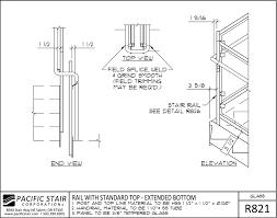 r821 glass rail standard top extended bottom