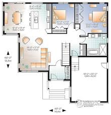 House Plan W3283 Detail From DrummondHousePlanscomModern Open Floor House Plans