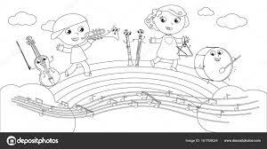 Disegni E Di Bambini Disegni Da Colorare Strumenti E Bambini
