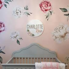 Floral nursery, Wall decals