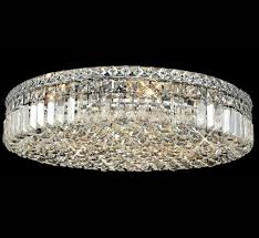 maxim collection 24 dia extra large crystal flush mount ceiling light