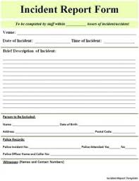 Employee Incident Report Form Doc Charlotte Clergy Coalition