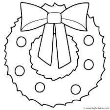 This is a huge collection of christmas coloring pages. Christmas Wreath Coloring Page Christmas
