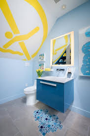 Small Blue Bathrooms Light Blue Bathroom Decorating Ideas Retro Blue That Makes Light