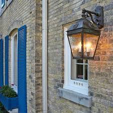 here is a side view of our french country lantern our handmade lantern is robust and elegant and perfect for this picturesque period home