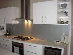 kitchen glass backsplash. Kitchen Glass Splashback - Dulux Satin Silver Backsplash