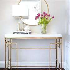 mirrored entry table mirrored entry table entryway console table round gold target mirror see this white