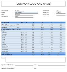 Beautiful Excel Pto Tracker Template Ideas Employee Vacation