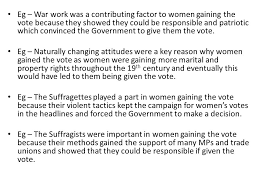 votes for women evaluation line of argument your line of argument  5 eg