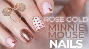 Rose Gold Minnie Mouse Nails | Disney Nail Art! – NailsByErin