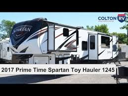 2017 prime time spartan toy hauler 1245 fifth wheel review
