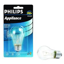 refrigerator light bulb. null 40-watt incandescent a15 clear appliance light bulb refrigerator home depot